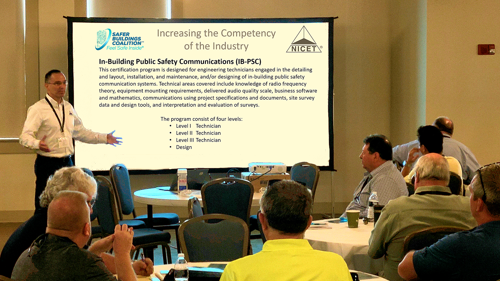 Chip Hollis, Senior Director, Credentials and Administration for the National Institute for Certification in Engineering Technologies (NICET), announces the availability of the first NICET Certification Test for the IB-PSC program, in collaboration with the Safer Buildings Coalition (SBC).
