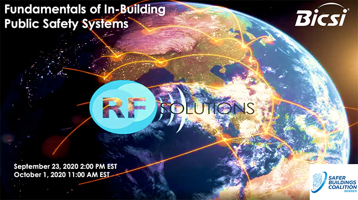SBC Member RF Solutions Hosts BICSI-Accredited Webinars