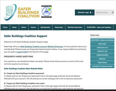 Safer Buildings Coalition Help Page